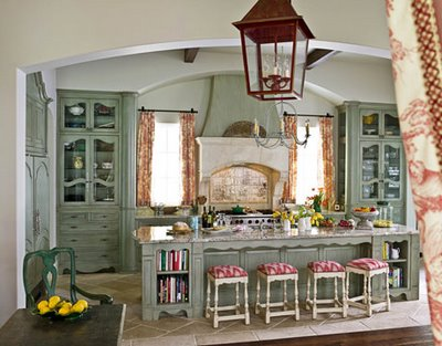 Kitchen Design Blog on Cottage Chic Kitchena Cozy Country Kitchen Dressed In Smoky Blue By