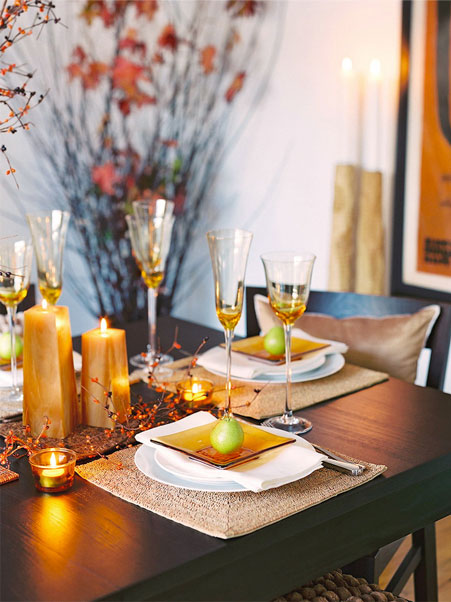 USA Pears Table Setting